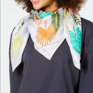Echo♥️NEW♥️ Summer palm silk square scarf Multi